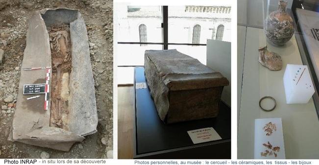 Le cercueil en plomb du musée de Valence