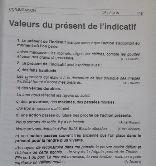 F / Le présent : ses valeurs