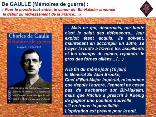"""76e Anniversaire Bir Hakeim (fin) - Nuit du 10 au 11 Juin  :  """" Ce soir, nous monterons tous au Paradis !"""""""