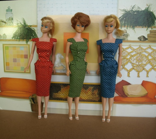 Barbie vintage : Pak Polka dot Sheath Dress