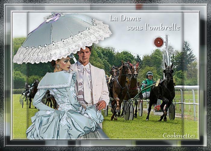 Sous une ombrelle à Chantilly