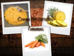 crème de carottes à l'ananas