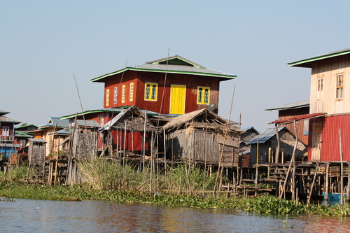 Birmanie Hill Valley au lac Inle
