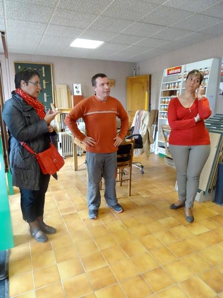 La menuiserie Gresset visitée par des élèves lors de la semaine de la mixité des emplois en Haute Côte d'Or