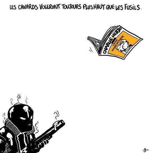 Les canards voleront plus hauts que les fusils #JeSuisCharlie