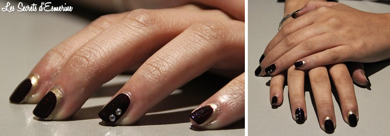 Nail art automnal : du prune, du miroitant... et une manucure assortie !