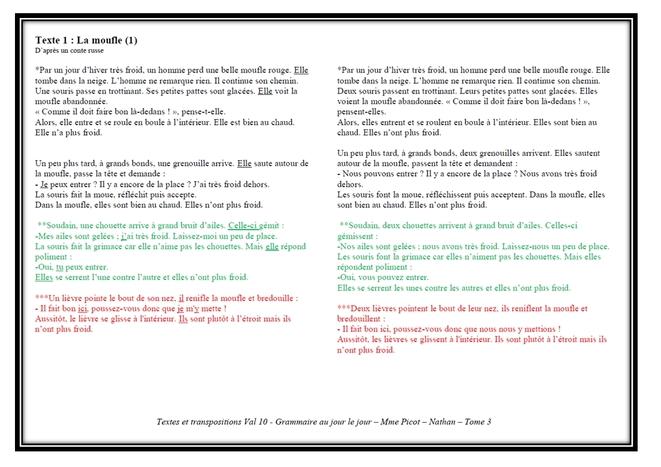 Textes grammaire au jour le jour Tome 3