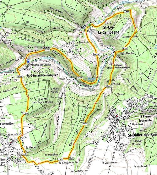 Randonnée Saint-Cyr-La-Campagne - Juin 2021