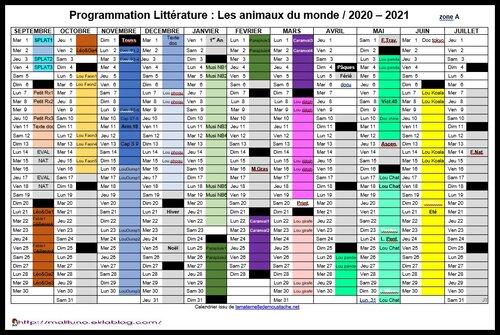 Programmation en littérature: les animaux du monde