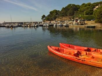 Nos kayaks prêts au départ