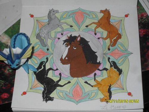 Mandala chevaux