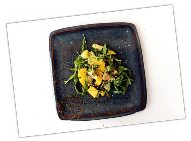 Salade fruits et roquette