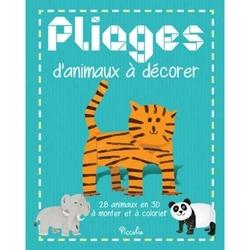Pliages d'animaux à décorer Piccolia