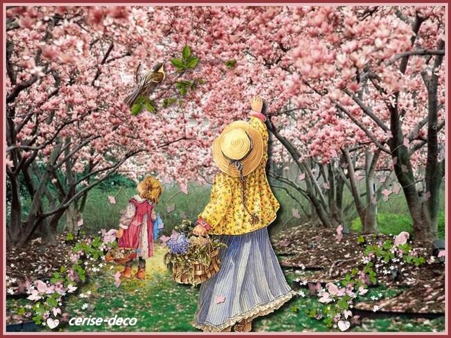 gif cerisier au printemps pour le défi de resoya