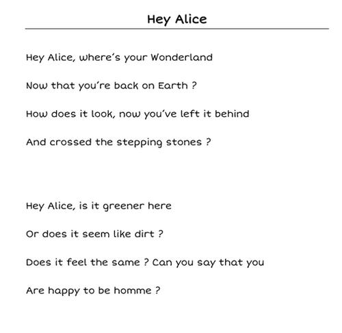 Hey Alice