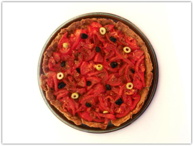 Tarte poivrons-tomates sans gluten