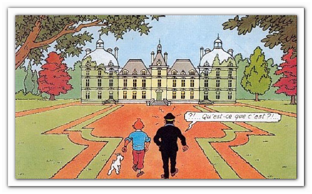"""23 septembre 2013  """"château de Cheverny ( nous n'avons pas pu visiter)"""