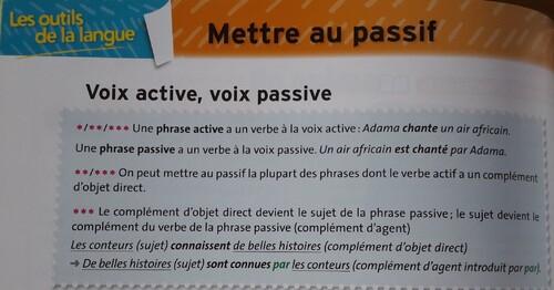 C / La voie passive