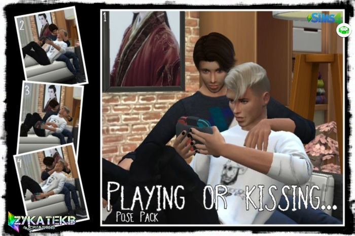 Playing or kissing...