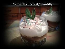 Crème de chocolat à la crème fouettée