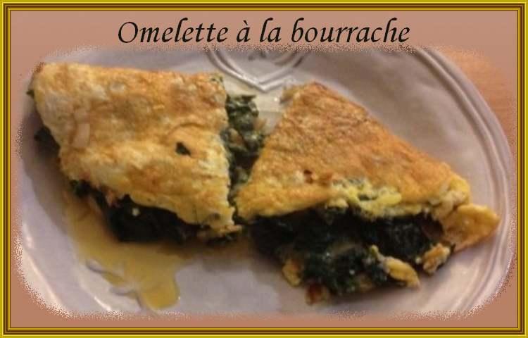 Recette de cuisine : Omelette à la bourrache