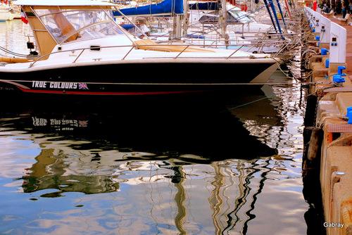 Au Barcarès : reflets dans le port !