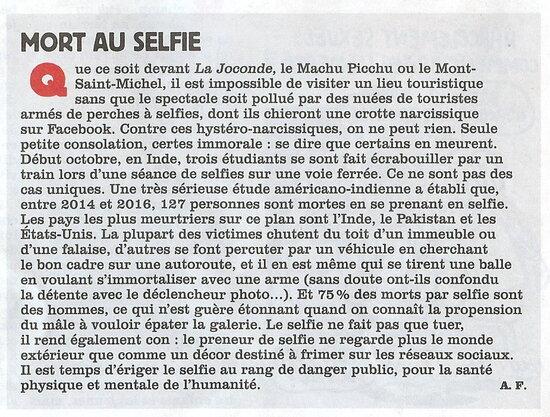 Mort aux selfies