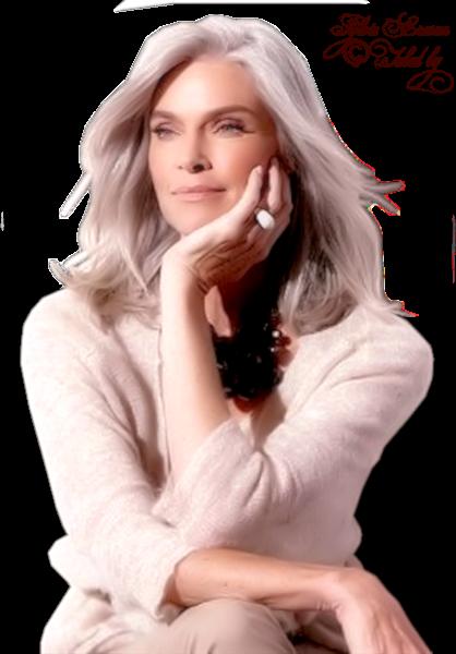 Tubes femmes cheveux gris création 1