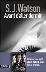 Avant d'aller dormir de S.J. Watson (livre) vs Avant d'aller dormir de Rowan Joffé (film)