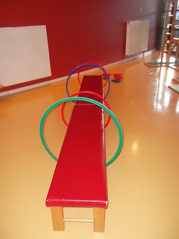 Parcours de gymnastique