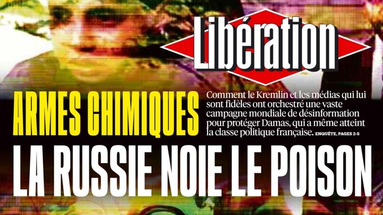 SYRIE: « Libération » enquête sur l'«intox russe»… depuis son canapé