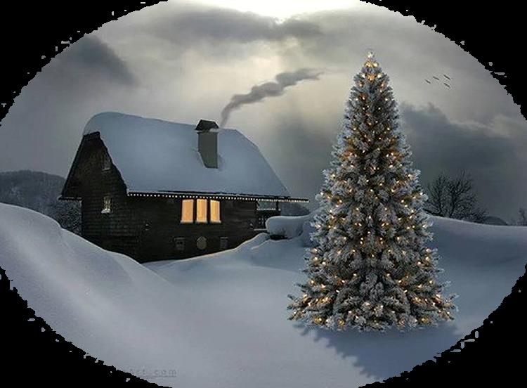 Mes Tubes Paysages de Noël Série 1   ♥