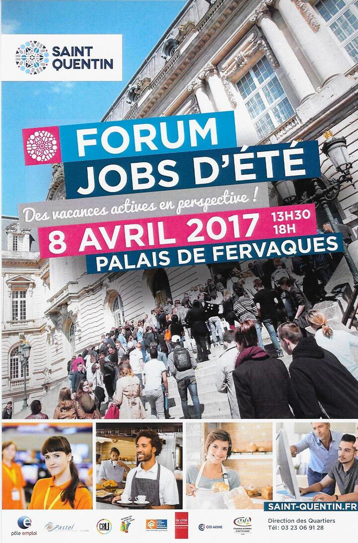 Forum Jobs d'été à saint-Quentin, 8 avril 2017