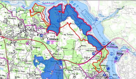 Espaces naturels sensibles protégés du Finistère : zone de préemption départementale pour CombritCombrit
