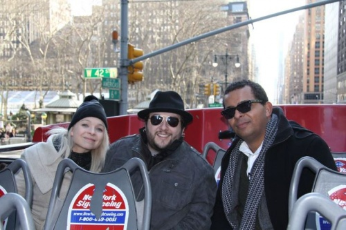 Jason, Grégory et Andrée-Anne à New-York