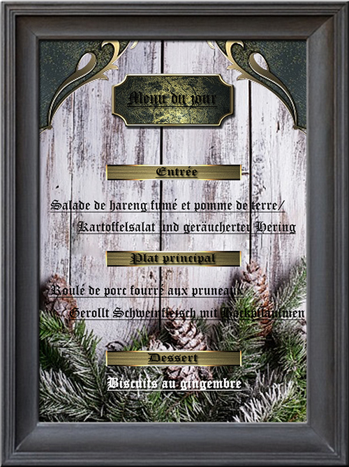 menu du 1er advent