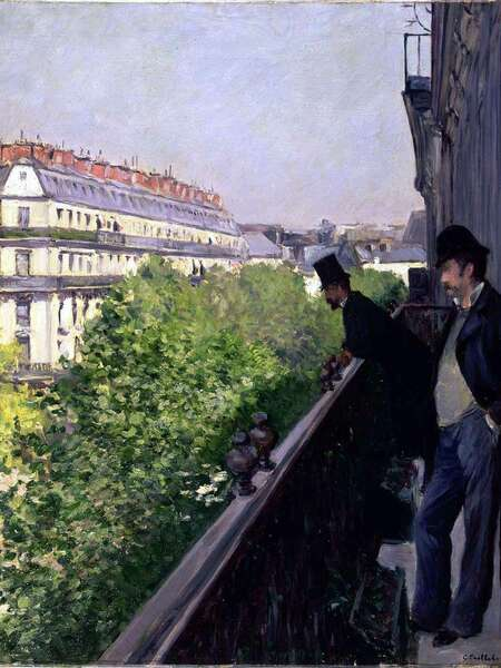 caillebotte un balcon boulevard haussman histoire-image