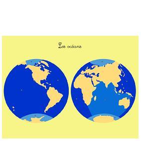 Les océans (cartes en 3 parties)