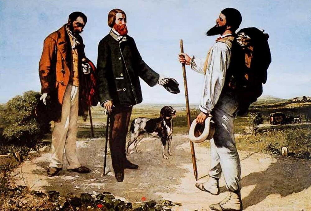 """Courbet 6 /  1855 :la rencontre """" Bonjour Mr Courbet"""""""
