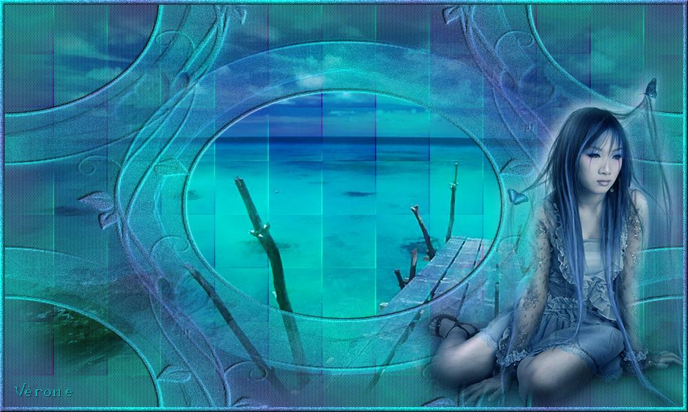Entre indigo et turquoise