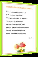 Poèmes pour le CE1 et le CE2 classés par thèmes