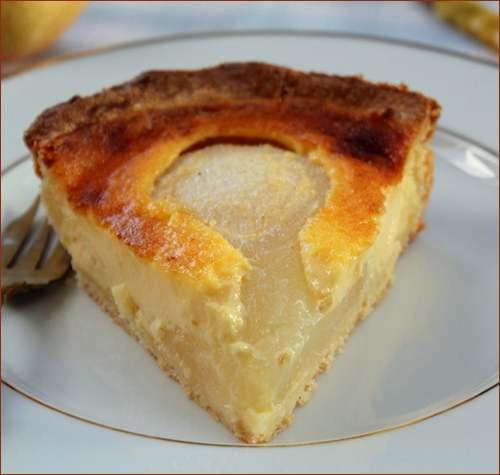 Recette de cuisine : Tarte normande aux poires