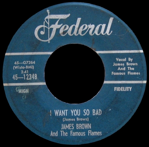 1959 James Brown & The Famous Flames Federal Records 45-12348 [ US ]