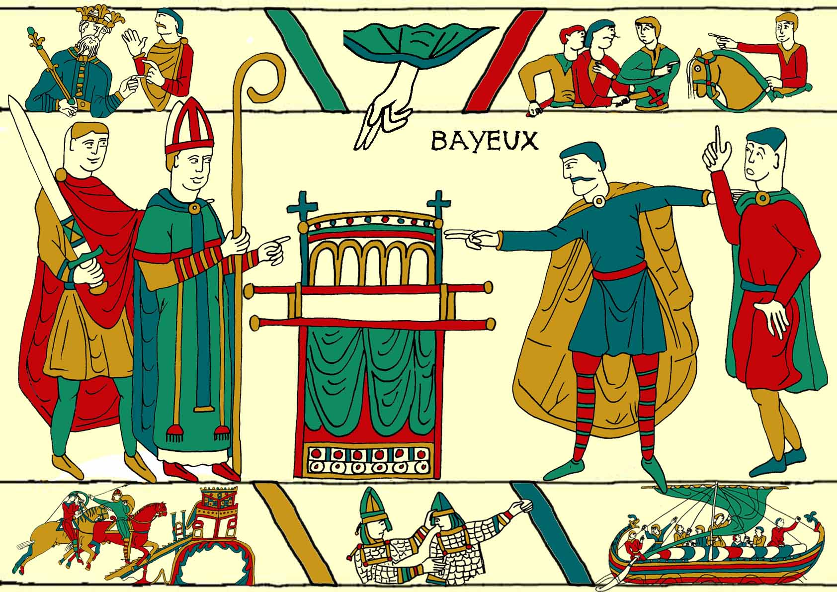 Histoire de la tapisserie de bayeux 1 telle une tapisserie - Qu est ce que la tapisserie de bayeux ...