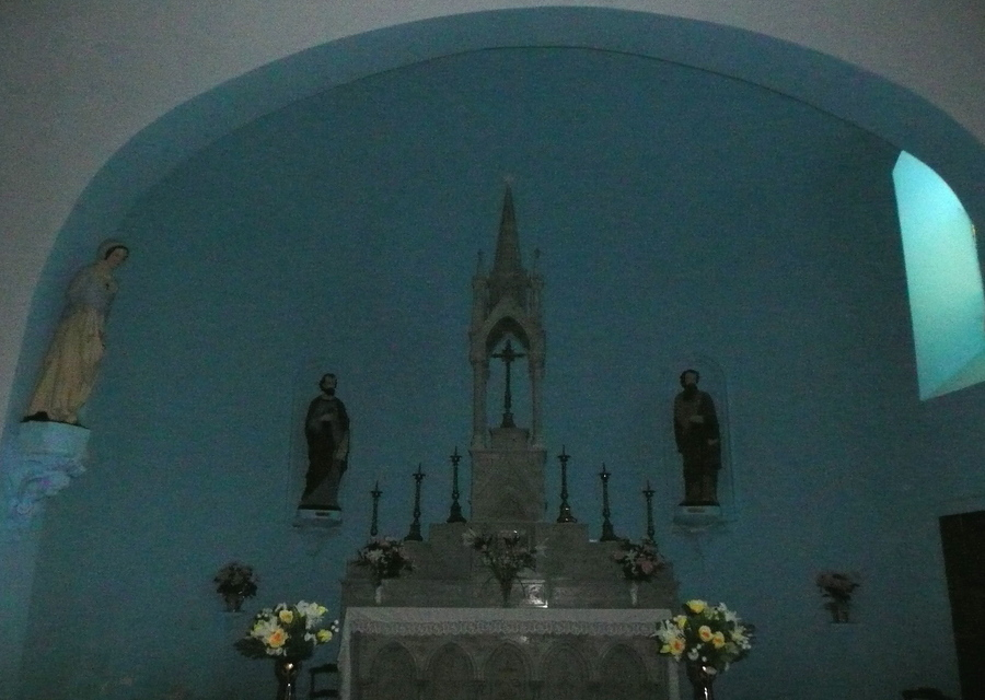 Intérieur de l'église de Sem en Ariège.
