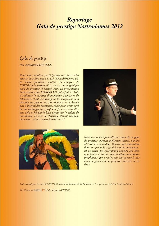 Reportage Gala de Prestige Nostradamus 2012