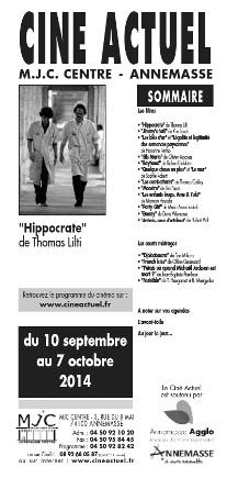Programme du 10 septembre au 7 octobre 2014