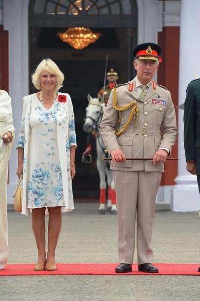 Charles et Camilla à l'académie militaire indienne