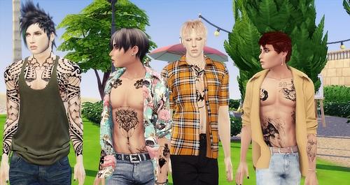 Kerry , Waylon, Donnie et Taylor