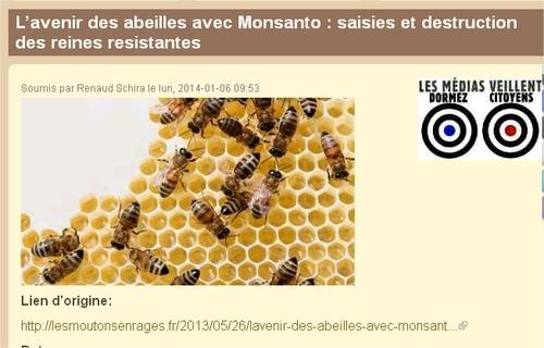 L'Illinois saisit illégalement les abeilles résistantes au Roundup de Monsanto; et tue les reines restantes.
